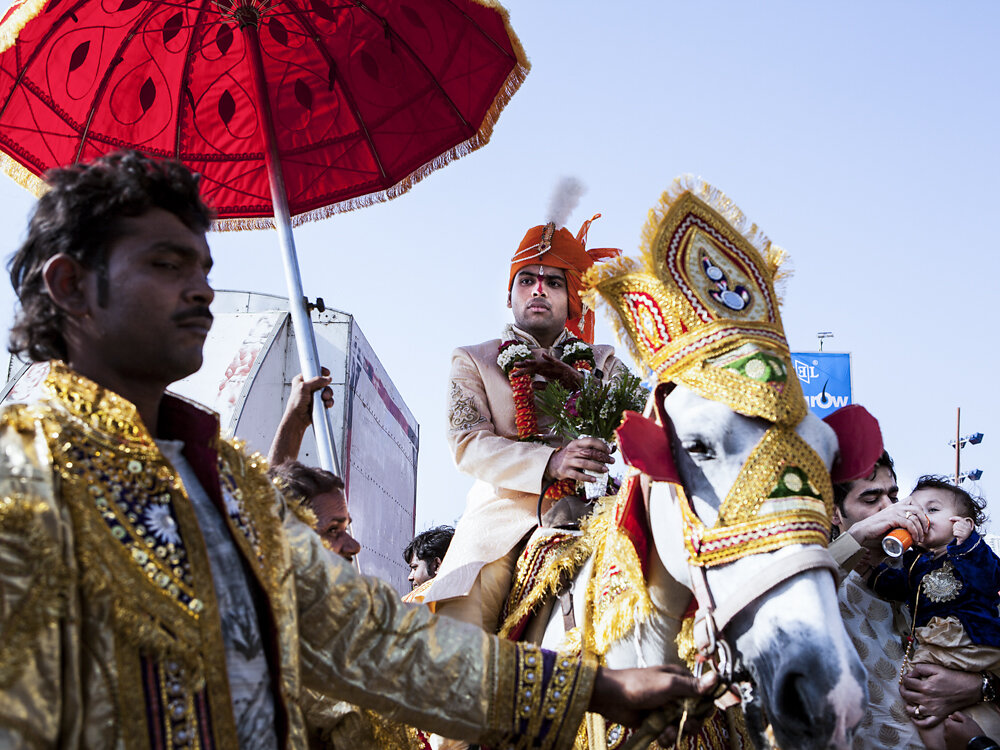 Mumbai Mirror, 2013. A fiance arrives to his wedding.