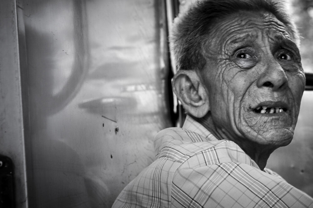 Malaysia, 2012. A man in a train on its way from Kuala Lumpur to Butterworth.