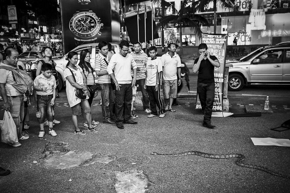Malaysia, 2012. A street scene in Kuala Lumpur.