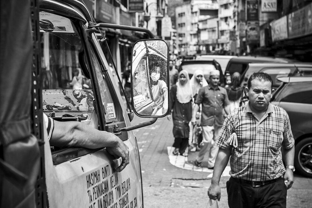 Malaysia, 2012. A street scene in Little India, Kuala Lumpur.