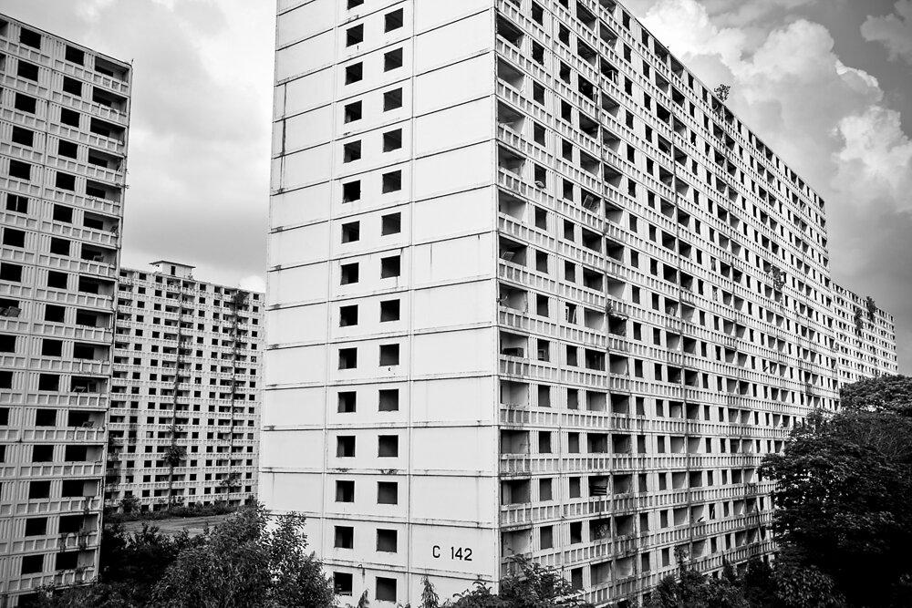 Malaysia, 2012. Abandoned buildings in Kuala Lumpur.