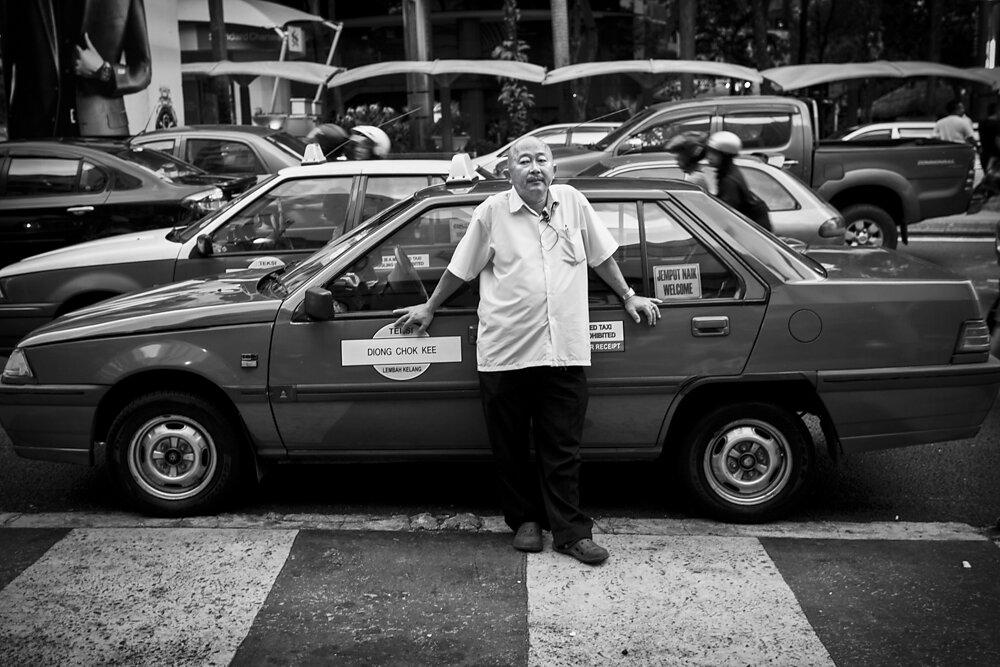 Malaysia, 2012. A taxi driver in Kuala Lumpur.